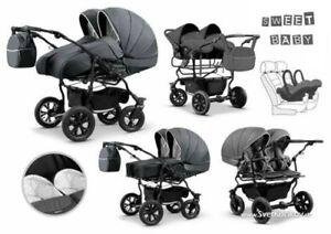 duet twin zwillingskinderwagen geschwisterwagen kinderwagen 3 in1 mit babyschale ebay. Black Bedroom Furniture Sets. Home Design Ideas