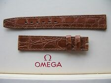 NOS Vintage Omega 16mm Brown Crocodile Strap - Stunning - Uses a 14mm buckle