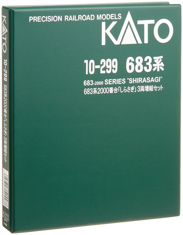 KATO N 10-299 10-299 10-299 Series 683-2000 Express Train Shirasagi (Egret) Add-on 3 Car 15fc38