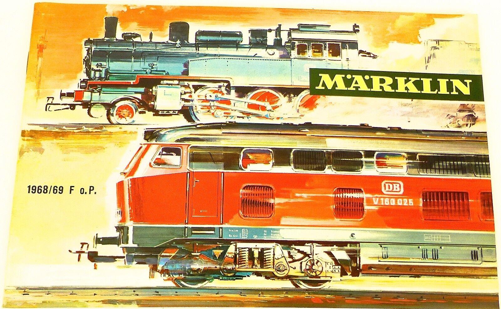 1968 69 F O.P. Märklin Catalog French France Excellent condition å