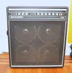 vintage 1970s acoustic 134 4x10 combo guitar amplifier amp works ebay. Black Bedroom Furniture Sets. Home Design Ideas