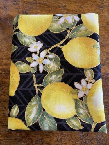 Cuarto gordo Oro Metálico De Impresión Negro Amarillo Limón Algodón Quilting fabric