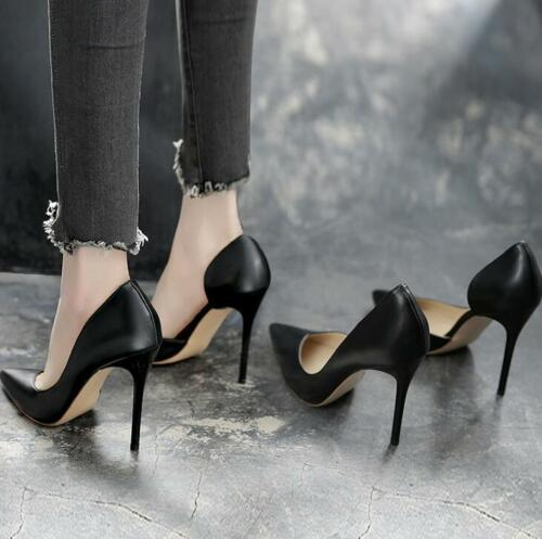 Womens Pumps Pointed Toe Stilettos High Heels OL Career Office Casual Shoes K523