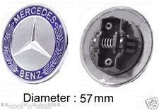 432- MERCEDES LOGO MONOGRAM EMBLEM BADGE HOOD ORNAMENT 57 mm E C CLASS