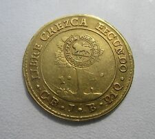 COSTA RICA 1849-CR JB AV Escudo San Jose Central American Republic, Gold RARE