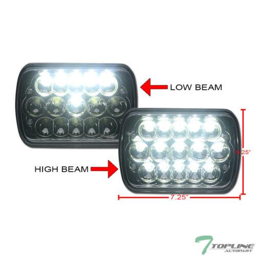 "Topline 7x6/"" Chrome Clear Full LED Sealed Beam Crystal Headlights For Buick"