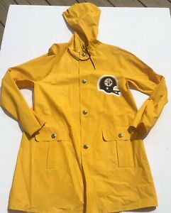 newest 0479a f3373 Pittsburgh Steelers 1970s Youth Rain Jacket Coat Vintage ...
