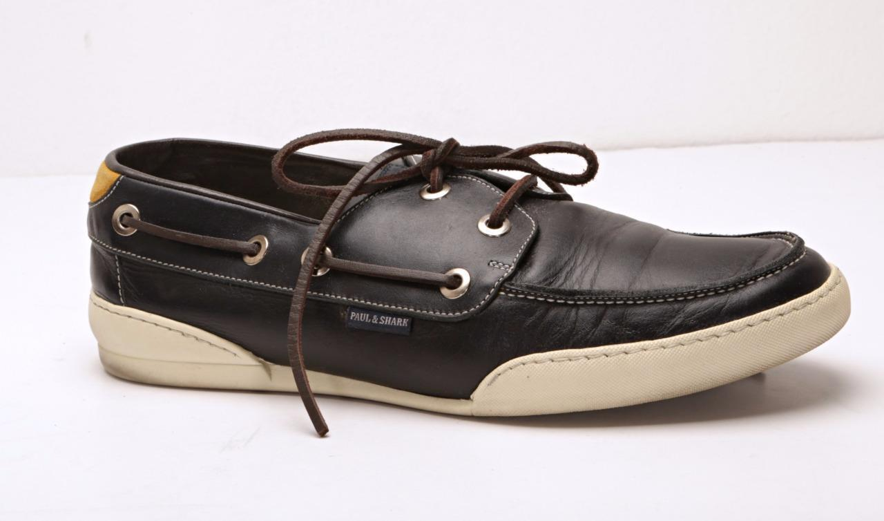 PAUL & SHARK Mens Navy bluee Leather Boat-Boating Yachting shoes 7