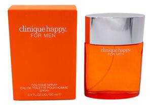Clinique Happy by Clinique 3.4 oz Cologne for Men New In Box
