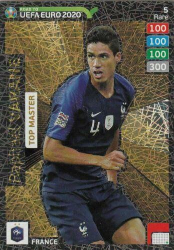 CARD PANINI ADRENALYN ROAD TO EURO 2020 N.5 VARANE FRANCE TOP MASTER