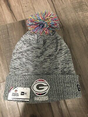 New Era 2020 Green Bay Packers Sideline Crucial Catch Tie Dye Pom Knit Hat 1 Sz Ebay