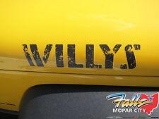 2007-2017 Jeep Wrangler Willys Wheeler Edition Hood Decal Sticker Mopar OEM