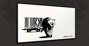 Banksy Canvas artistica Bar White Stampa di Code Graffiti 7ATFa8n