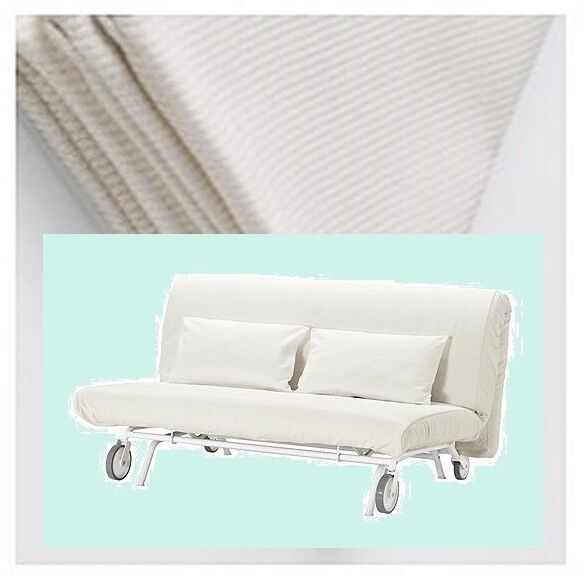 Ikea Ps Sleeper Sofa Bed Gräsbo White Futon Cover 2 Pillow Slip Pique Grasbo Ebay