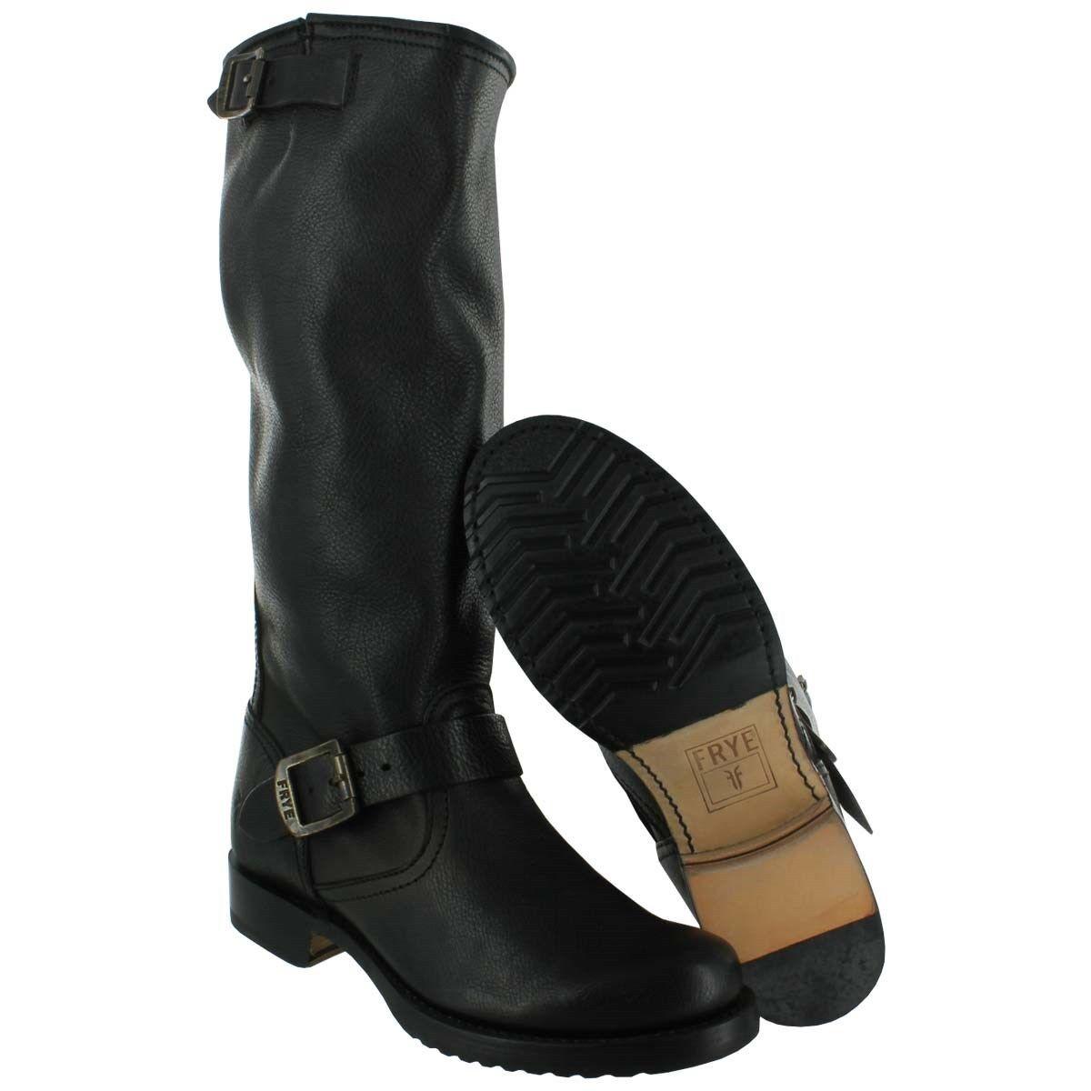Para mujer mujer mujer botas Frye Veronica Slouch Negro 77605 Negro  tiendas minoristas