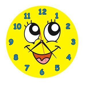 Child S Cute Smiley Face Wall Clock Silent Quartz Home