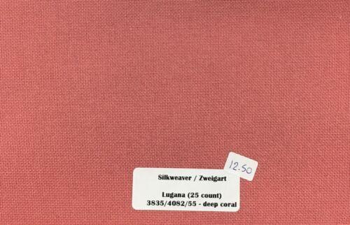 "Zweigart Lugana Fabric 25 Count Fat Quarter 18/"" x 27/"" Cross Stitch /& Embroidery"