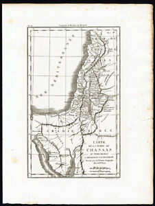 Modest Antique Map-israel-jews-canaan-abraham-promised Land-blanchard-fremin-1844 Asia Maps