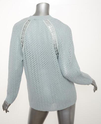 Himmelblå Langærmet M 1295 Åbent Strikket Chloe Sweater Dame Nwt Ny Pullover EwSqRXxfp