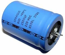 5x 2500uF 120V Snap In Mount Electrolytic Capacitor 2500mfd 120VDC 120 Volts 85C