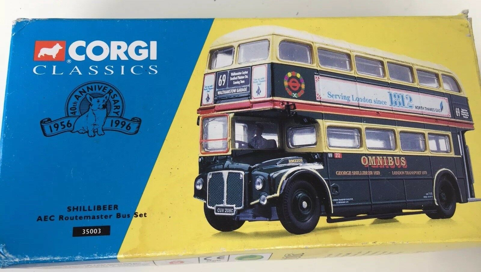 Corgi Classics 35003-Shillibeer AEC Routemaster Bus Set- Still wrapped in box