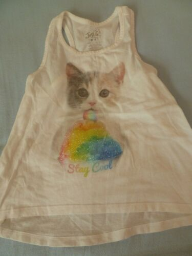 JUSTICE Girls 7 TANK TOPS Graphics Glitter Tee Tops Pick from 5 Great Choices!