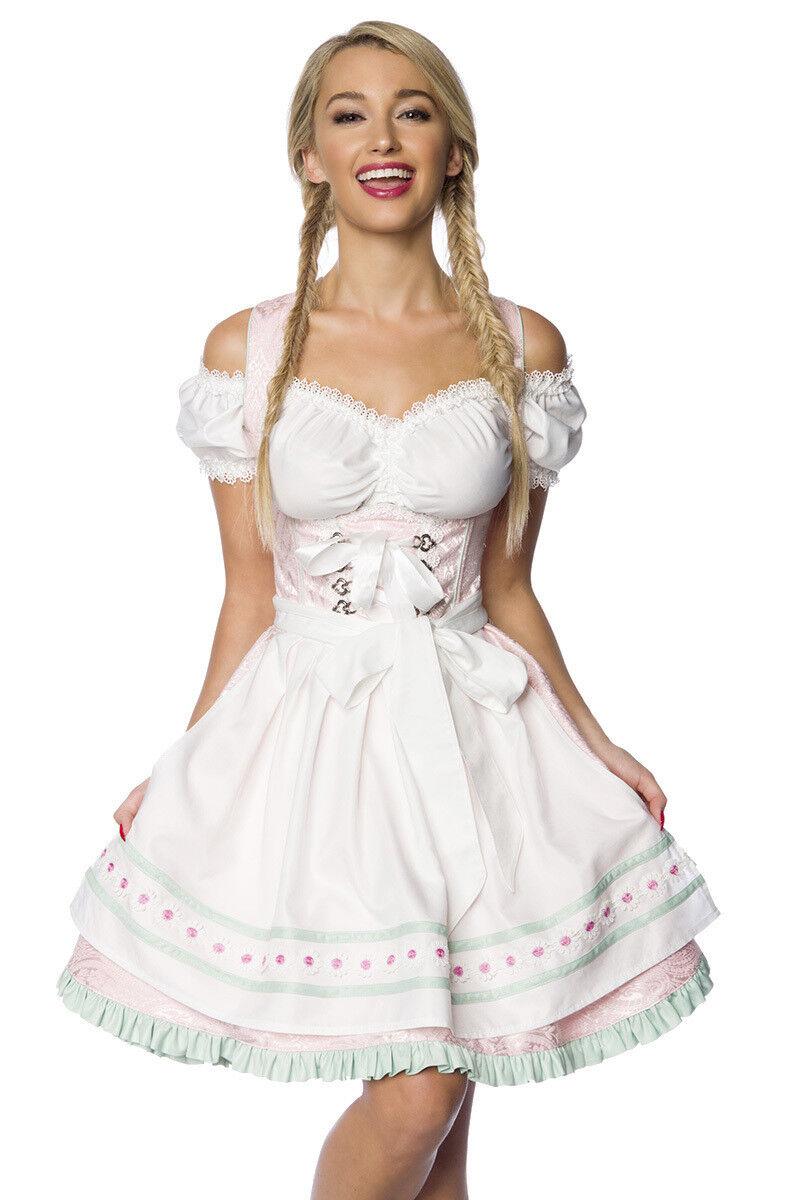Dirndline Dirndline Dirndline Damen Dirndl 34 36 38 40 42 44 46 Rosa weiß mint Schürze Oktoberfest   Für Ihre Wahl    Genial    Großer Verkauf  306b78
