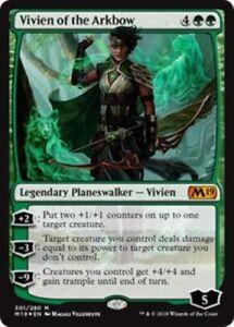 MTG-Vivien-of-the-Arkbow-301-280-Core-Set-2019-M19-Mythic-Green-NM-M-PK-216