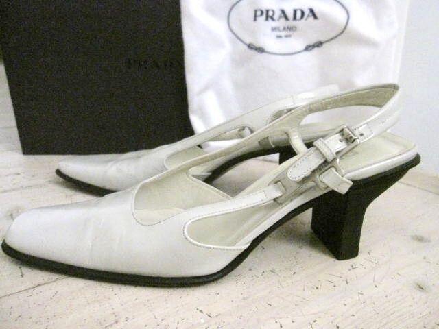 PRADA PRADA PRADA Elegant Very Pale grau Slingbacks IT 36 (UK 3 - 3½) IB 6a0d3c