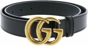 Gucci-Women-039-s-Leather-Belt-With-Double-G-Buckle