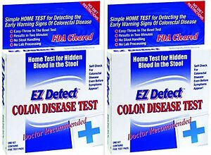 Ez Detect Colon Disease Home Test 5 Tests Box 2 Boxes 83059100013 Ebay