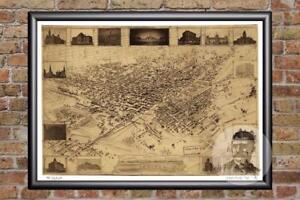Vintage-Denver-CO-Map-1881-Historic-Colorado-Art-Old-Victorian-Industrial