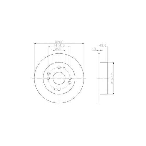 Nuevo se ajusta a Honda Accord MK7 2.0 Sedán Genuino Mintex Disco De Freno Trasero /& Pad Set