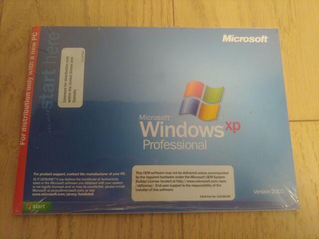 Microsoft Windows XP Professional 2002 Upgrade Version 2004 Service Pack 2 SP2