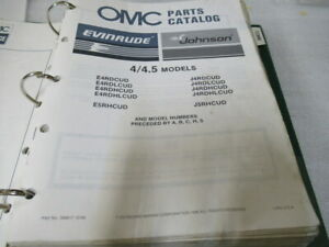 1987 OMC EVINRUDE 4 4.5 OUTBOARD MOTOR PARTS MANUAL JOHNSON