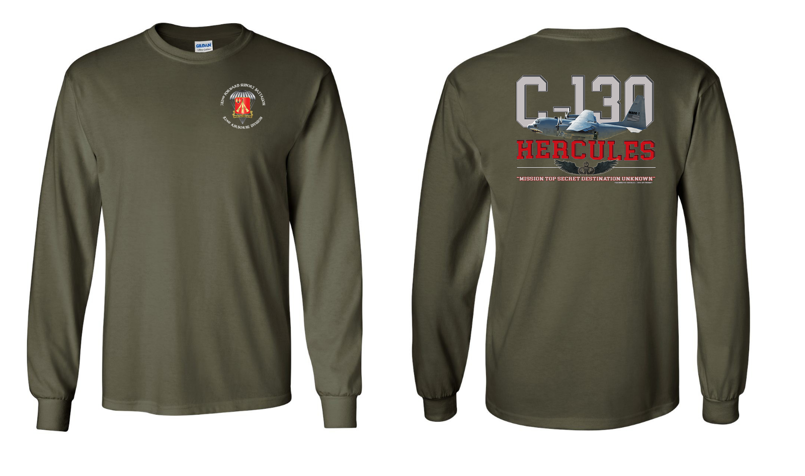 782nd batallón de mantenimiento C-130 Camisa Manga Larga De Algodón 8146 - 8146 Algodón 684437
