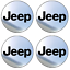 4-adhesifs-stickers-JEEP-chrome-40-a-100-MM-pour-centre-de-jantes miniature 1