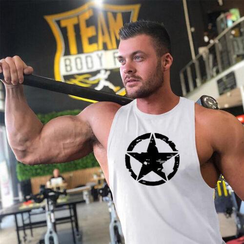 Herren Muskelshirt Tank Top Bodybuilding Tshirt Sport Fitness Gym Top Sportshirt
