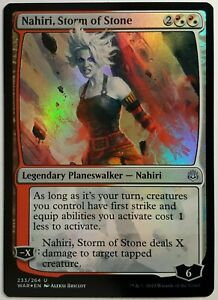 1x Foil Nahiri Storm Of Stone Near Mint Nm Magic Planeswalker War Of The Spark Ebay