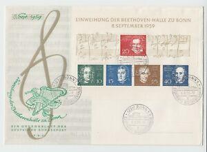 Bund-Block-2-auf-FDC-Einweihung-der-Beethovenhalle-Bonn-1959