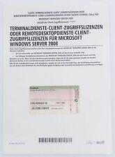 MS Windows 2008 Terminal Server / RDS - 1 User / Benutzer CAL - auch R2
