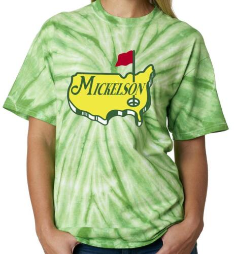 """Tie Dye Phil Mickelson The Masters /""""Logo/"""" T-Shirt"""