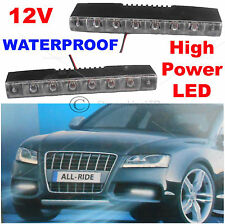 Pair 2X 12 Volt Waterproof Car DRL 12 White LED Day Front Fog Lamps Lights 8033
