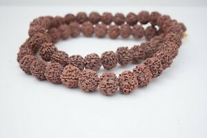 Details about Rudraksha Prayer Mala Large 5 Faced Mala Spiritual Healing  peace neckwear
