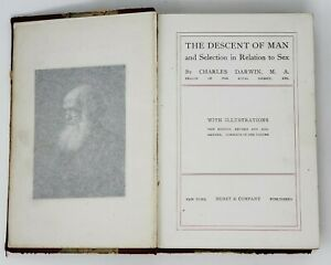 The-Descent-of-Man-and-Selection-in-Relation-to-Sex-1874-HC-Book-Charles-Darwin