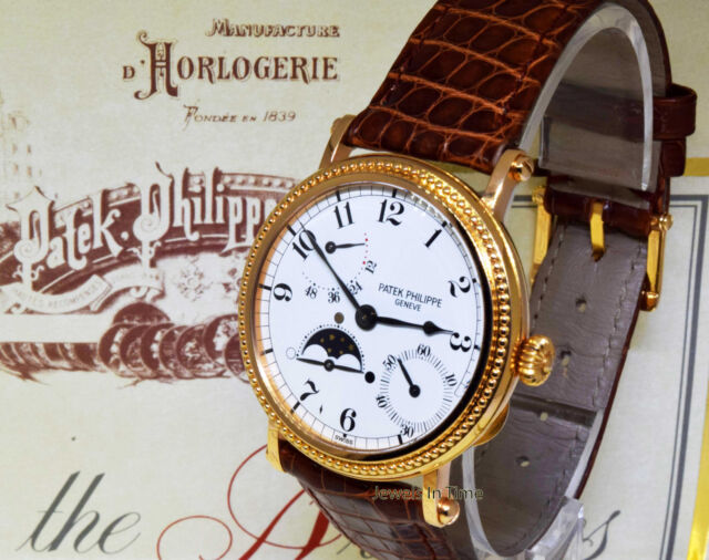 Patek Philippe 5015 Complications 18k Rose Gold Mens Watch Box/Papers 5015R