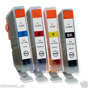 4-PACK-CLI-8-Ink-Cartridge-CLI-8-CLI8-WITH-NEW-CHIP-for-Canon-MP950-1BK-3CLR