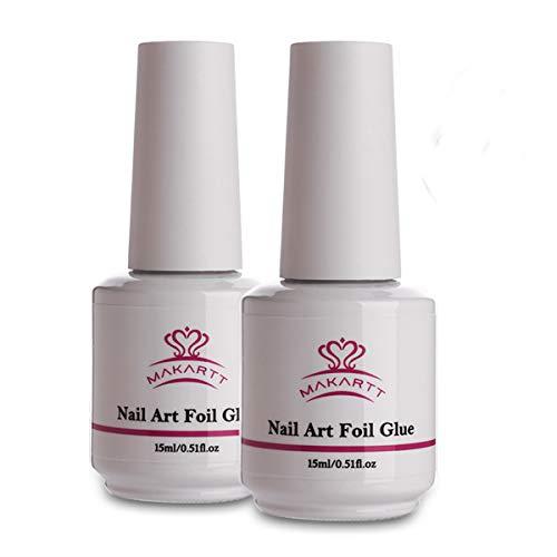 Makartt Nail Art Foil Glue Gel for Foil Stickers,Nail Transfer Tips,Manicure Art