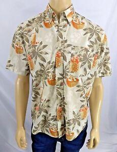 b76713a8 NATURAL ISSUE Wrinkle Free Hawaiian Shirt Mens M Floral Mai Tais ...