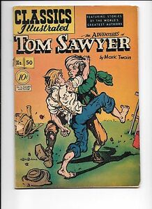 Classics-Illustrated-50-August-1948-The-Adventures-Of-Tom-Sawyer-by-Mark-Twain